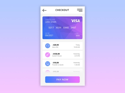 Daily UI #002 Credit Card Checkout checkout dailui dailyui