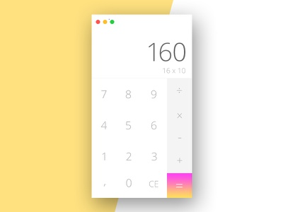 Daily UI #004 Calculator calculator dailui dailyui