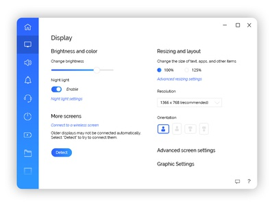 Daily UI #007 Settings settings ui dailui