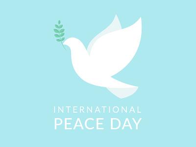 Happy International Peace Day! peaceful white dove dove illustration international peace day internationalpeaceday peace