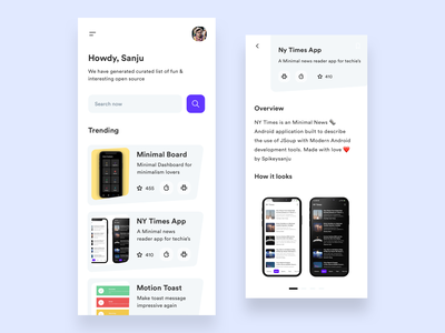 Intrsting Repo  - Open Source App card design slider mobile components components cards ui newsfeed opensource github ios uidesign ux icon clean minimal mobile ui uxdesign ui app