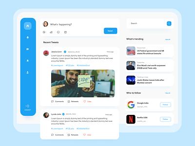 Twitter - Redesign Concept 🎨 twitter redesign concept mobile ui clean uidesign ux uxdesign ui app
