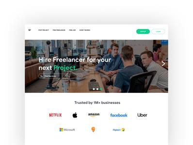 Landing Page - Freelancing Website (Workifyd)