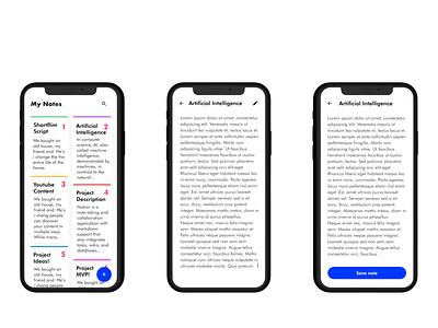 Notes App UI - Open Source Project andoid app github open source mockup cards ui typogaphy icons todolist simple notes app todo app clean minimal ux design branding mobile ui uxdesign ui app
