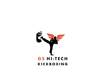GS Hi-Tech - Kick Boxing Logo website type sketch brand creative minimal fight club club fitness logo kickboxing identity geometry illustration typography vector logo icon design branding