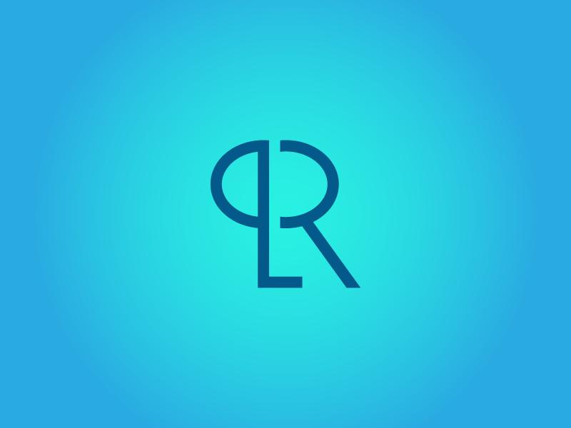 QR - Lettermark gradient blue letter qr lettermark logo text logo mark photoshop logotype design logos illustrator logo designer logo design logodesign logo a day logo adobe photoshop adobe illustrator