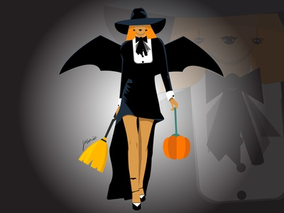 Fashion Of Halloween graphic art halloween2018 digital illustration art fashion halloween halloween design vector art charactedesign design illustration