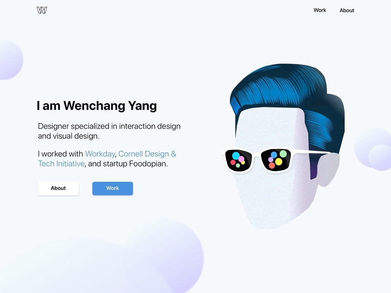 Portfolio Web Design By Wenchang Yang Dribbble Dribbble