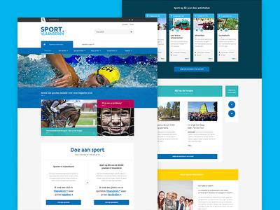 Sport Vlaanderen flanders sports homepage wireframes ux ui website