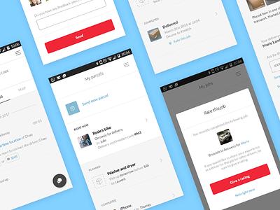 Bringr bpost user interface mobile app ux ui