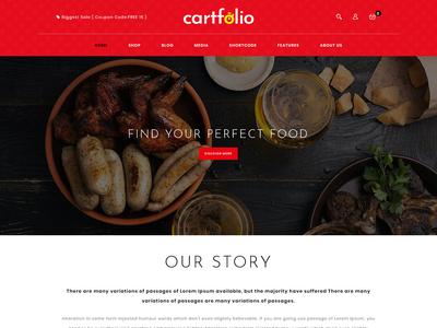 Cartfolio Food  Design By Mahmudparvez