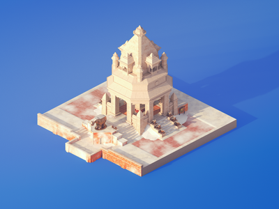 Mangachu - Overwatch Nepal Shrine day day lowpoly isometric overwatch mangachu 3d