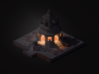 Mangachu - Overwatch Nepal Shrine night