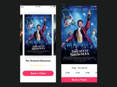 Booking a movie ticket concept   Invision Studio