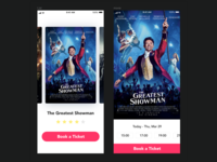 Booking a movie ticket concept | Invision Studio