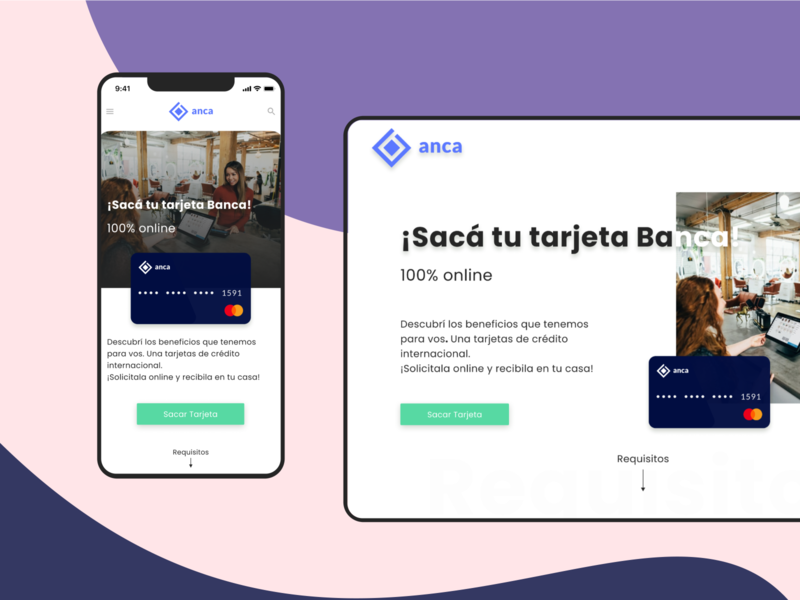 Bank - Onboarding of Credit Card minimal website logo web design ux design ui design uidesign uxdesign ui ux ux ui onboarding digital banking banking website banking