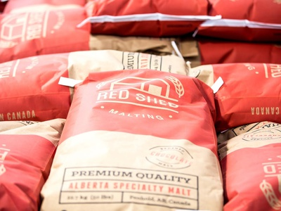 Red Shed Malting packaging design packaging