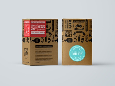 Red Shed Malting Brew Kit packaging design packaging brew brewery