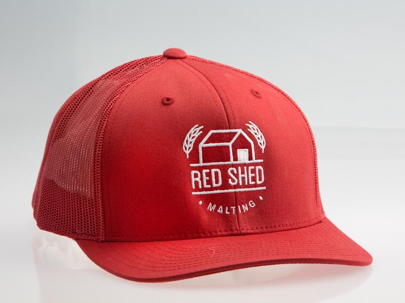 Red Shed Malting merchandise design merch design merchandise