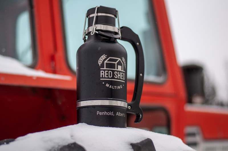 Red Shed Malting Growler merchandise design brewery