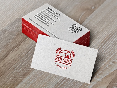 Red Shed Malting Business Cards business cards