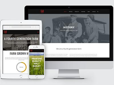 Red Shed Malting Website wordpress design website design website