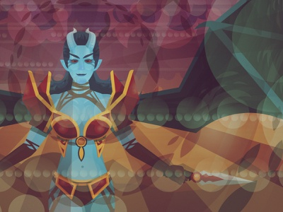 Akasha, the Queen of Pain dota2 dota graphic art flat vector illustration illustration vector