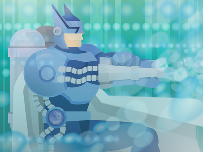 Elemental HERO Bubbleman elementalhero yugioh graphic art flat vector illustration vector illustration