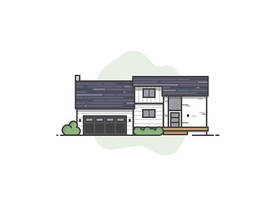 Hometown Architecture illustration house architecture line art