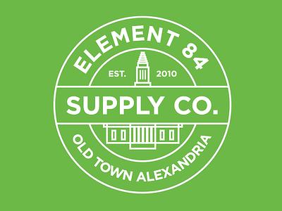 Fine Digital Goods supply co masonic temple old town alexandria city line art badge logo