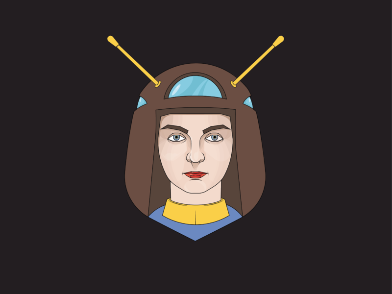 I'm looking for a hero venus cyborg robot superhero vector portrait vector design art illustrator portrait