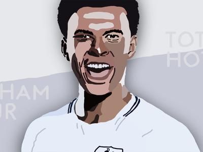 soccer illustration | Dele Alli (1/6)