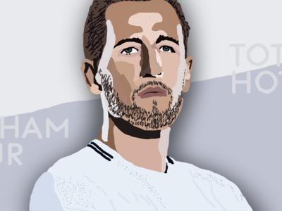 soccer illustration | H. Kane (4/6)