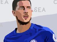 soccer illustration   E. Hazard (6/6)