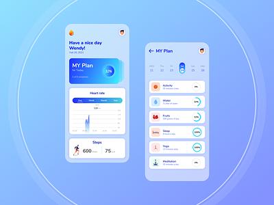 Health App app ux activity mobile app design ui