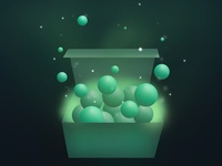 a Box of Green Magic: hello dribbble