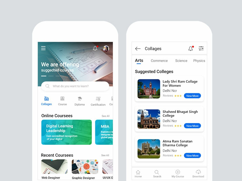 Education App icon typography concept design app ux ui