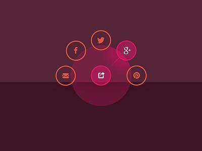 Social media radial nav ui radial navigation menu