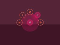 Social media radial nav