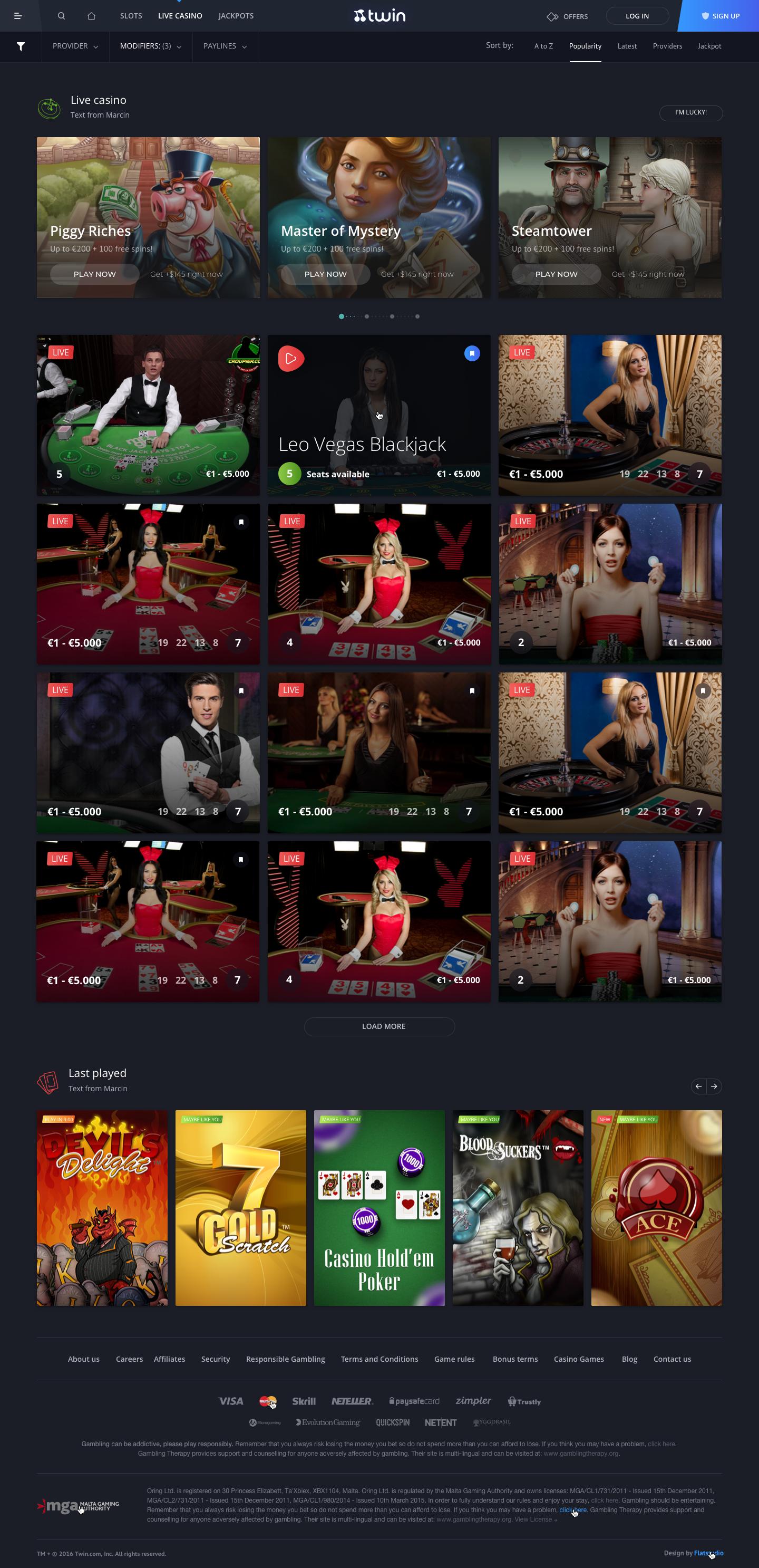 Live casino 1440