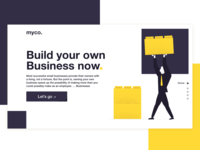 Landing page for business website