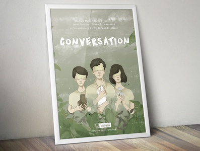 conversation film for Germany films festival on a framed poster