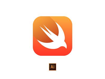 Swift Icon - Download .ai apple. programming language swift