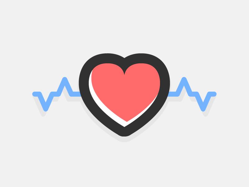 heartbeat logodave stadler - dribbble
