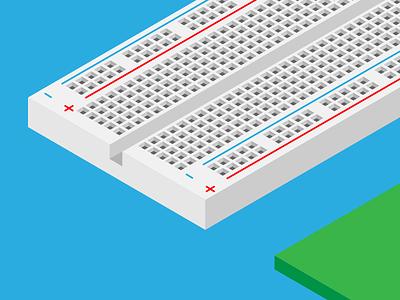 Isometric Breadboard - WIP illustration diy electronics
