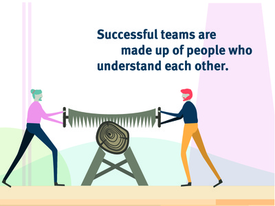 Team Work lifestyle people bold colourful characters brand illustration
