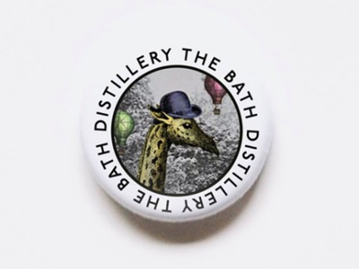 Bath Distillery Pin Badge badgedesign branding vintage ilustration