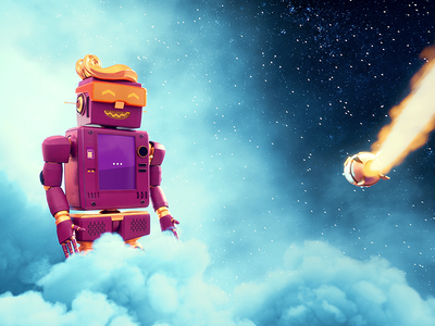 Tele2 Chat-Robot space 3d animation chatbot chat-robot app tele2