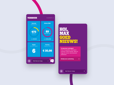 Tele2 app chatbot ux data mobile design ui layout typography agency app portfolio interface animation