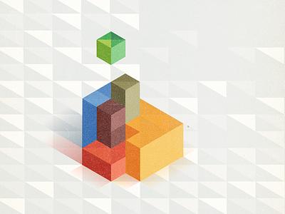Micro Segmentation b2b cube blocks isometric